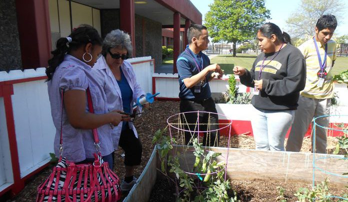 Volunteer Ruth Peritz honored for working with special ed students in Kennedy High gardens