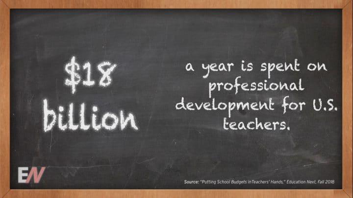 EdStat: $18 Billion annually is Used on Professional Development for U.S. Teachers