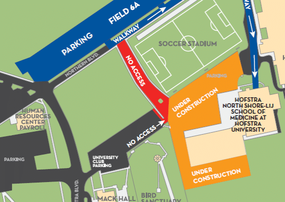 Med school Parking Lot Closure (May 19-June 20)