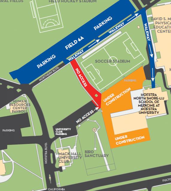 Med school Parking Lot Closure (May 19-June 20)